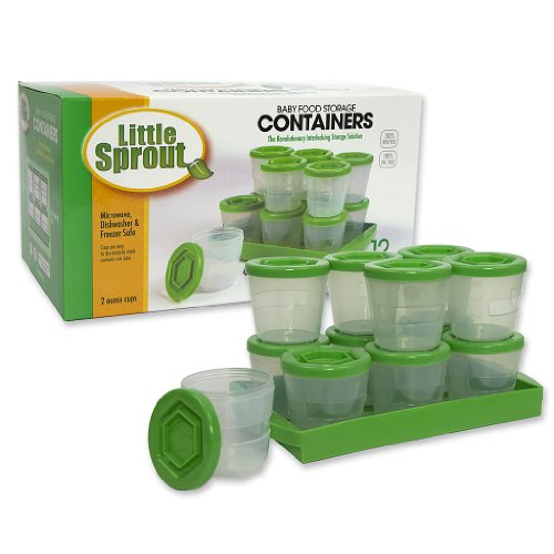Baby Food Containers By Little Sprout Reusable Stackable